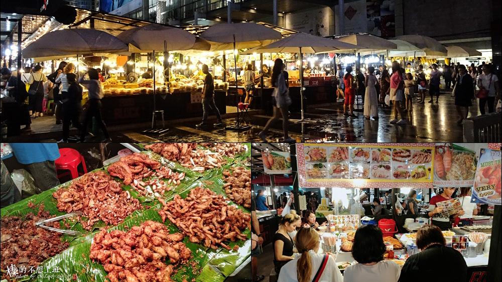泰國│Central World廣場前的小市集,曼谷好吃香蕉煎餅、大頭蝦 (BTS Chit Lom )
