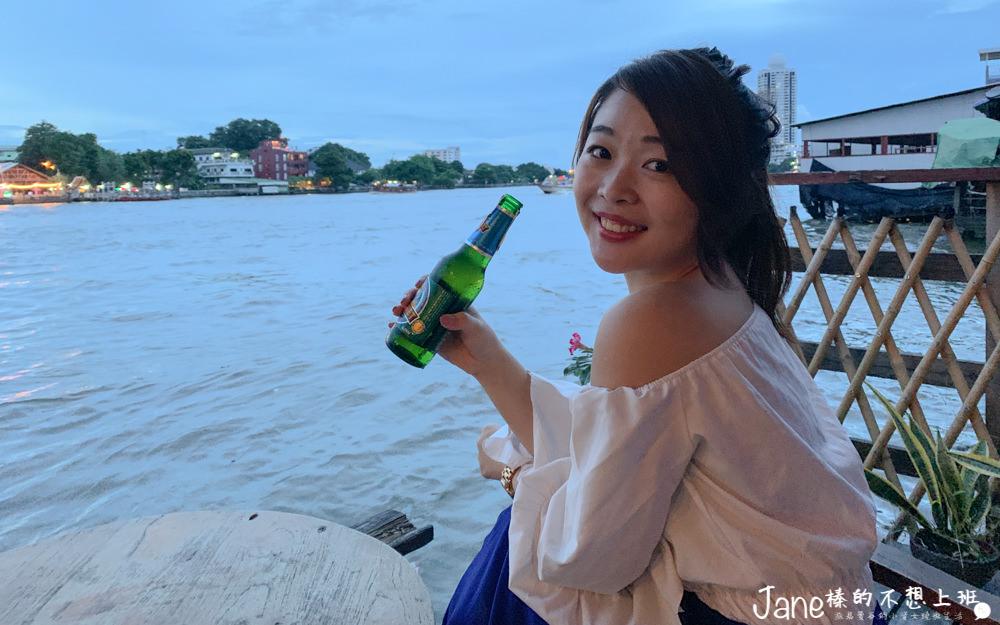 曼谷酒吧推薦|Samsara Cafe & Meal,中國城巷子裡的酒吧,坐在昭披耶河邊喝酒看夜景